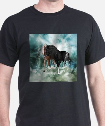 Wonderful couple horses in the sky T-Shirt