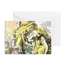Lord appears to Moses from the burni Greeting Card