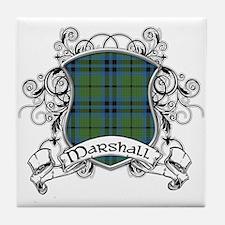 Marshall Tartan Shield Tile Coaster