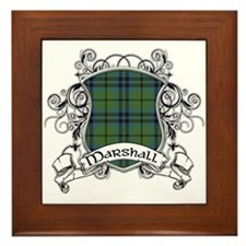 Marshall Tartan Shield Framed Tile
