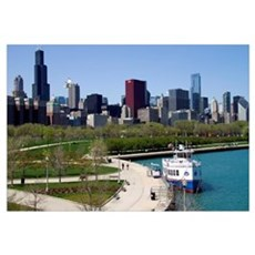 View of the Chicago skyline from the waterfront, I Canvas Art