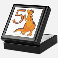 Kids Dino 5th Birthday Gifts Keepsake Box