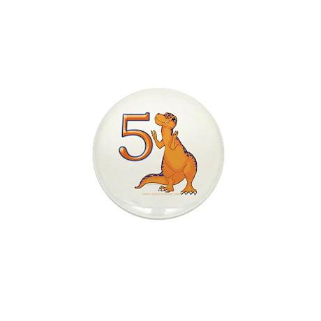 Kids Dino 5th Birthday Gifts Mini Button