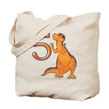 Kids Dino 5th Birthday Gifts Tote Bag
