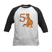 Kids Dino 5th Birthday Gifts Tee