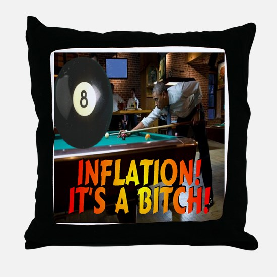 Obama on Inflation Throw Pillow