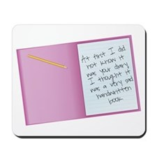 Bridesmaids Diary Mousepad