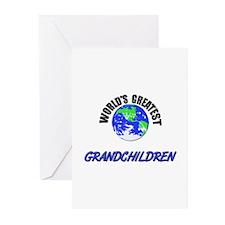 World's Greatest GRANDCHILDREN Greeting Cards (Pac