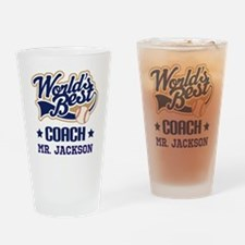 Personalized Baseball Coach Gift Drinking Glass