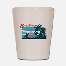 Retro San Diego Surf Shot Glass