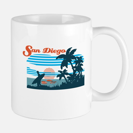Retro San Diego Surf Mugs