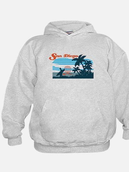 Retro San Diego Surf Hoodie