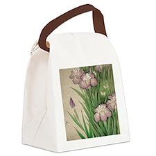 Cute Plum Canvas Lunch Bag