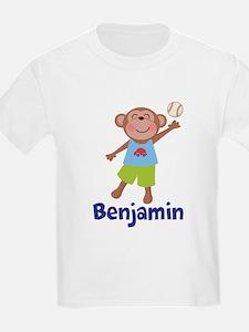 Baseball Boy Monkey Personalized T-Shirt