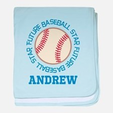 Future Baseball Star personalized baby blanket