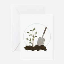 Tree Planting Greeting Cards