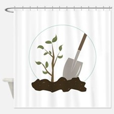 Tree Planting Shower Curtain