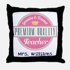 Teacher Vintage Personalized Throw Pillow