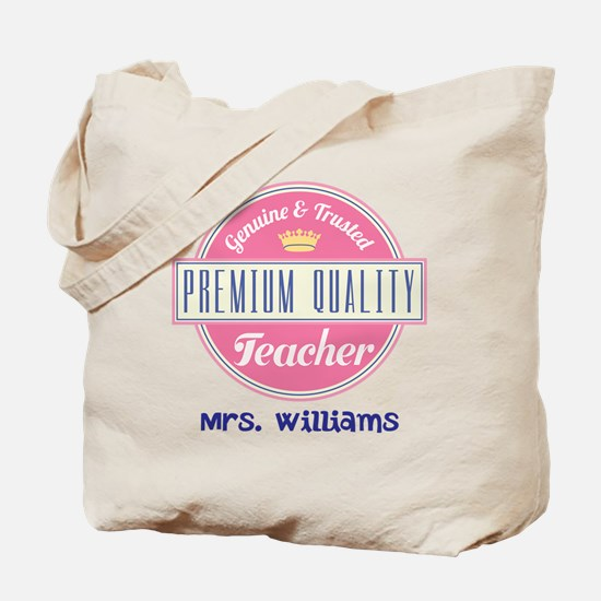 Teacher Vintage Personalized Tote Bag