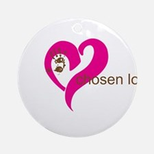 chosen love - pink/brown Ornament (Round)