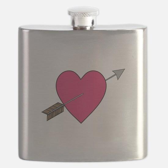 Heart With Arrow Flask