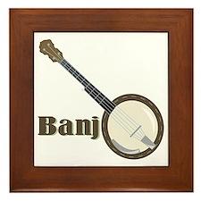 Banjo Instrument Framed Tile