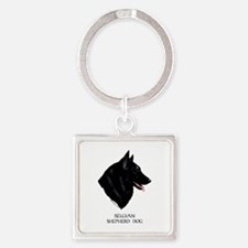 Belgian Shepherd Dog Square Keychain
