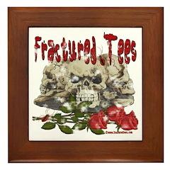 Fractured Tees Skull and Rose Framed Tile