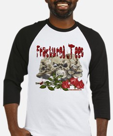 Fractured Tees Skull and Rose Baseball Jersey