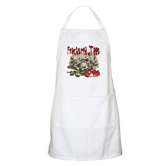 Fractured Tees Skull and Rose BBQ Apron
