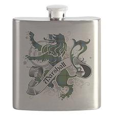 Marshall Tartan Lion Flask