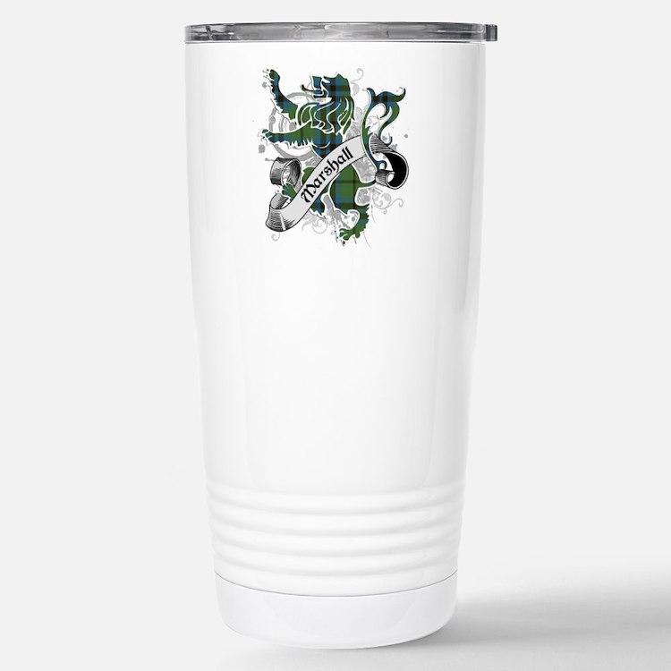 Marshall Tartan Lion Travel Mug