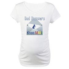God Answers Knee Mail Shirt