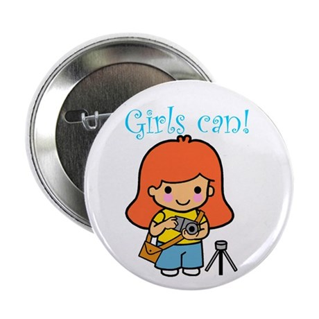 """Girl Photographer 2.25"""" Button (10 pack)"""