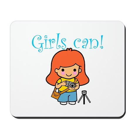 Girl Photographer Mousepad