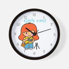 Girl Photographer Wall Clock