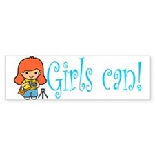 Girl Photographer Bumper Bumper Sticker