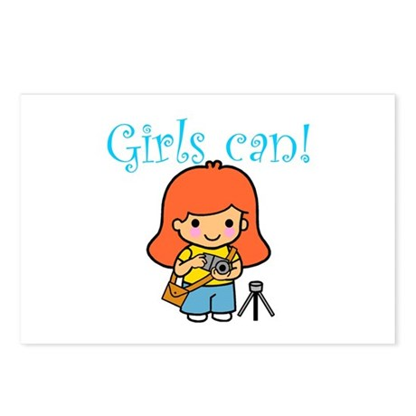 Girl Photographer Postcards (Package of 8)