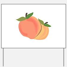 Peaches Yard Sign