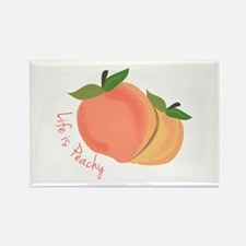 Life Is Peachy Magnets