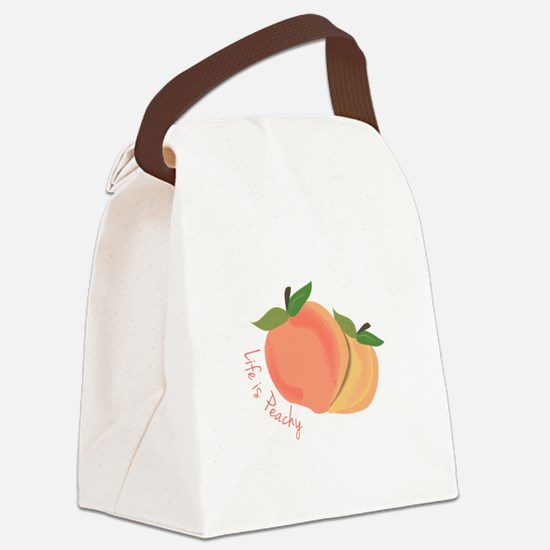 Life Is Peachy Canvas Lunch Bag