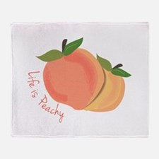 Life Is Peachy Throw Blanket