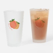 Life Is Peachy Drinking Glass