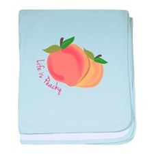 Life Is Peachy baby blanket