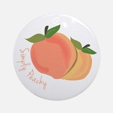 Simply Peachy Ornament (Round)