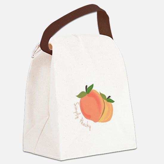 Simply Peachy Canvas Lunch Bag