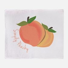 Simply Peachy Throw Blanket