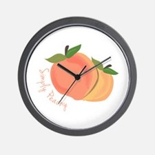 Simply Peachy Wall Clock