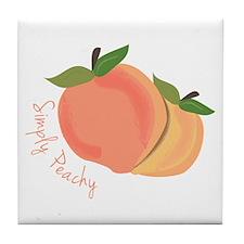 Simply Peachy Tile Coaster