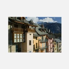 BRIANCON: Buildings along Town Wa Rectangle Magnet
